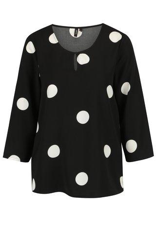 Bluza neagra cu buline albe si maneci 3/4 - VERO MODA Dot