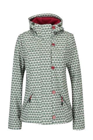 Jacheta verde & alb impermeabila cu print pentru primavara / toamna - Blutsgeschwister