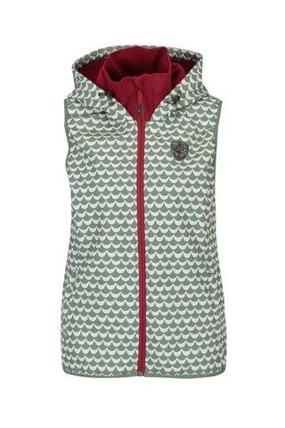 Bílo-zelená nepromokavá vzorovaná vesta Blutsgeschwister