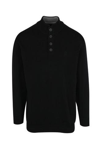 Pulover negru cu logo brodat JP 1880