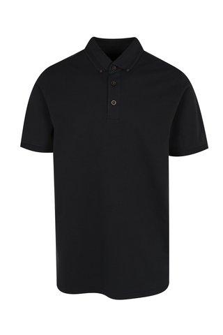 Tricou polo negru cu guler buttons-down  JP 1880