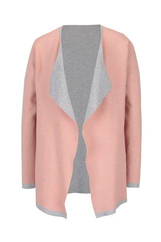 Cardigan roz & gri reversibil - Yest