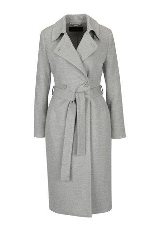Šedý žíhaný dámský kabát Pietro Filipi