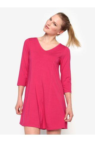 Rochie mini roz cu maneci 3/4 - Yest
