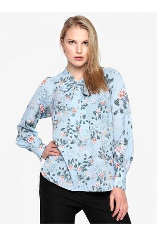 Bluza albastra cu print floral si funda - French Connection Kioa