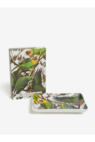 Bílá miska s motivem papoušků Magpie Parrot