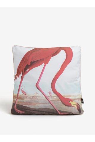 Perna alba cu imprimeu flamingo - Magpie Flamengo