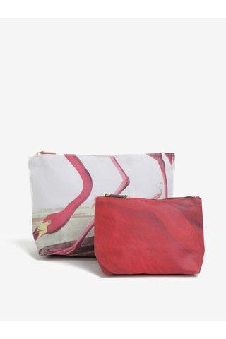 Set de 2 portfarduri cu flamingo -  Magpie Flamengo