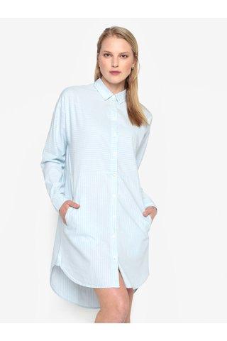 Rochie camasa albastru deschis cu model in dungi - Selected Femme Lillian