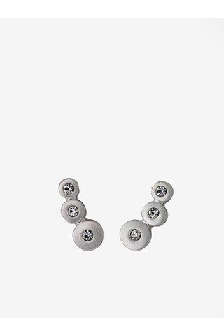 Postříbřené náušnice ve stříbrné barvě s krystalovými kameny Pilgrim  Bella