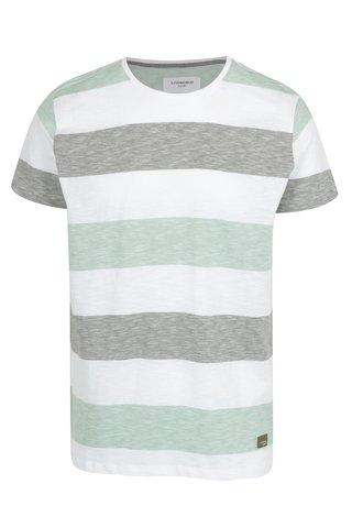 Tricou cu dungi verde deschis & alb - Lindbergh