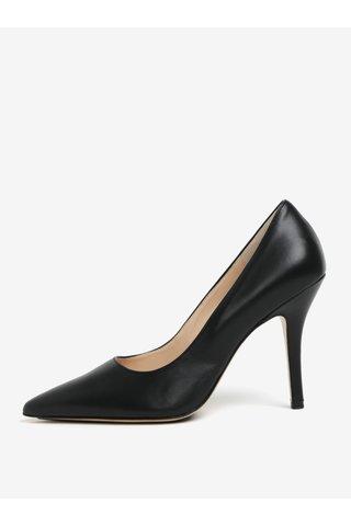 Pantofi negri din piele cu toc cui Högl