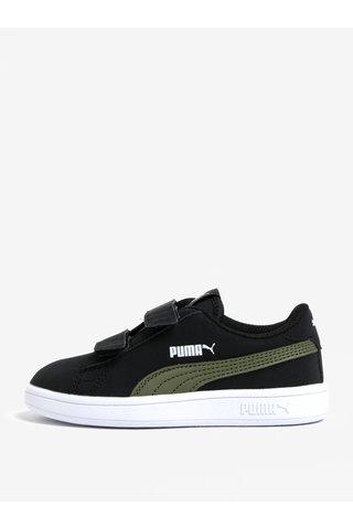 Černé klučičí tenisky na suchý zip Puma