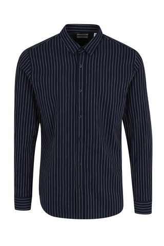 Camasa slim fit bleumarin cu model in dungi - ONLY & SONS Nihal