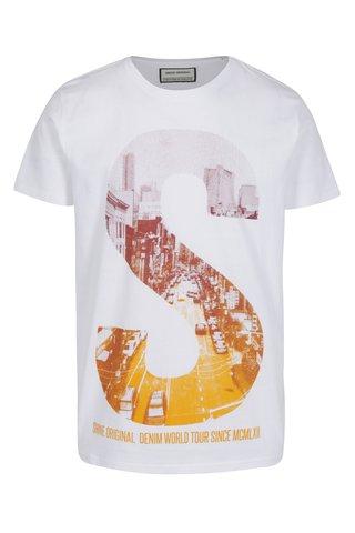 Tricou alb cu print S Shine Original