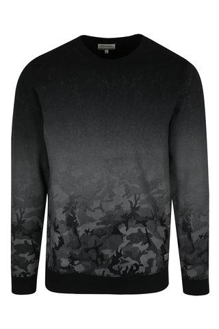 Bluza sport negru & gri cu efect in degrade - Shine Original
