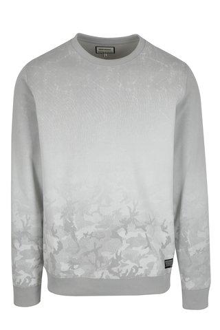 Bluza sport gri deschis cu efect in degrade - Shine Original