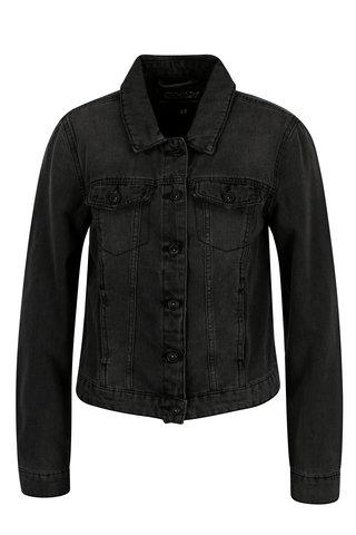 Jacheta gri inchis din denim ONLY Westa