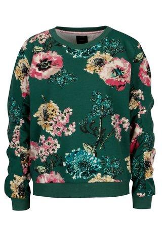 Bluza verde cu print floral ONLY Katherine