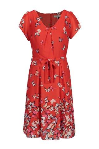 Rochie rosie cu print fluturi  Billie & Blossom