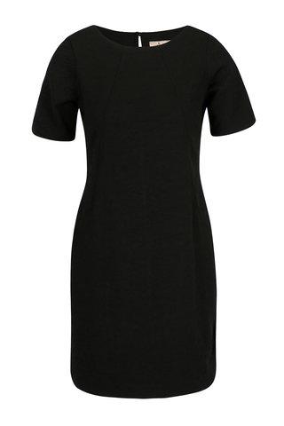 Rochie neagra cu model discret si maneci scurte - Billie & Blossom Petite
