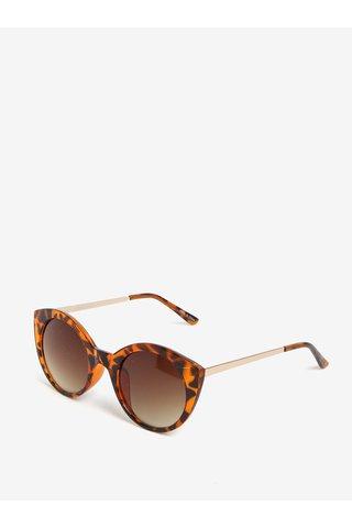 Ochelari de soare maro & oranj cu print - Pieces Malisa