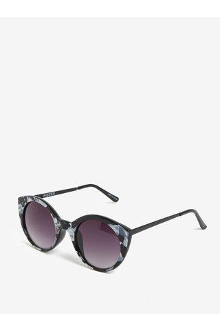 Ochelari de soare gri & negru cu print - Pieces Malisa