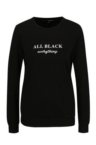 Bluza sport neagra cu mesaj - TALLY WEiJL