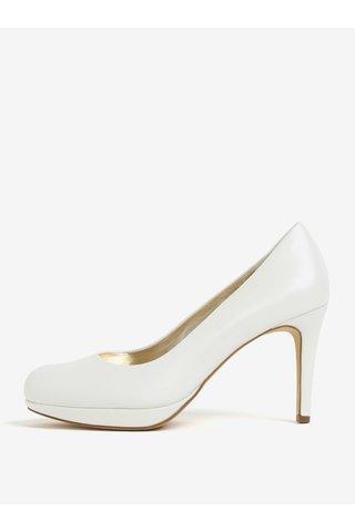 Pantofi crem din piele naturala cu toc cui - Högl