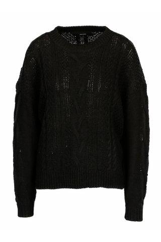 Pulover tricotat negru cu torsade - VERO MODA Wale