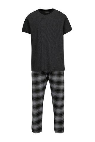 Pijama cu tricou si pantaloni in carouri Burton Menswear London