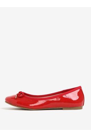 Balerini rosii glossy cu fundita - Tamaris