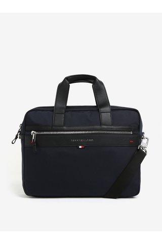 Tmavě modrá pánská taška na notebook Tommy Hilfiger Elevated