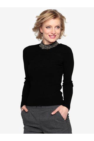 Černý lehký svetr s korálkovou aplikací Oasis Embellished