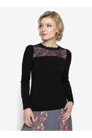 Bluza neagra cu insertie de dantela - Oasis Lace