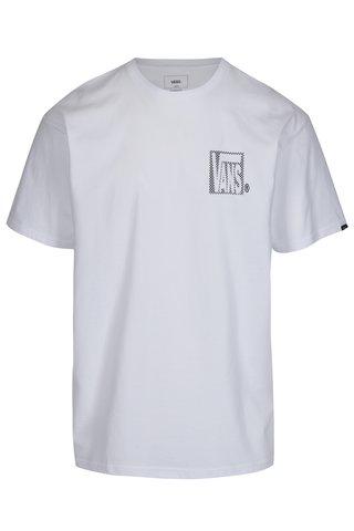 Tricou alb din bumbac cu print si logo pentru barbati - Vans New Checker