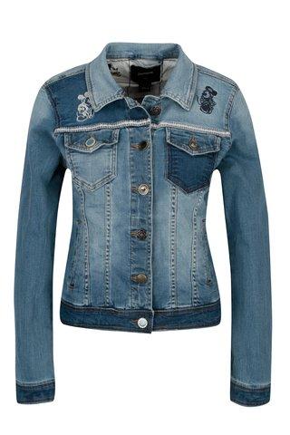 Jacheta albastra din denim cu broderie Desigua Maria Goepp