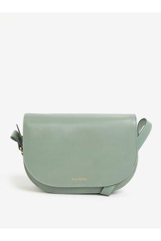 Světle zelená velká kožená crossbody kabelka Royal RepubliQ Raf Curve