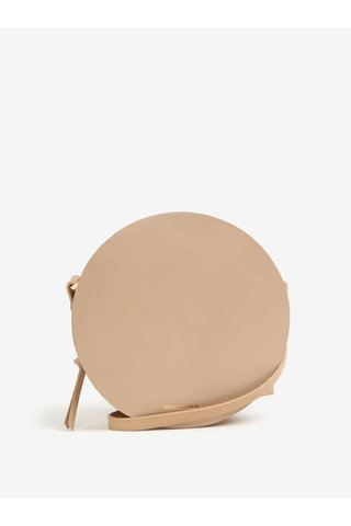 Geanta rotunda crossbody nude din piele - Royal RepubliQ Galax Round