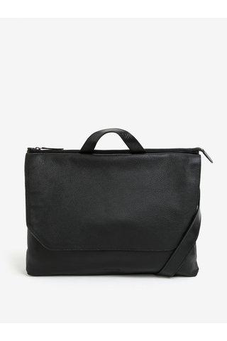 Černá pánská kožená taška na notebook Royal RepubliQ Omega