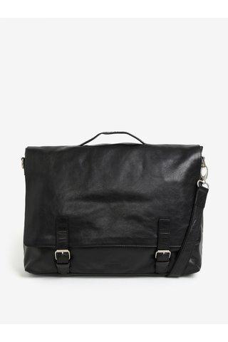 Černá pánská kožená taška na notebook Royal RepubliQ Essential