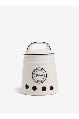 Recipient alb din ceramica pentru ceapa - SIFCON