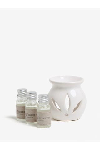 Cutie cadou cu lampa ceramica si uleiuri parfumate de panselute, bujor si bergamota - SIFCON