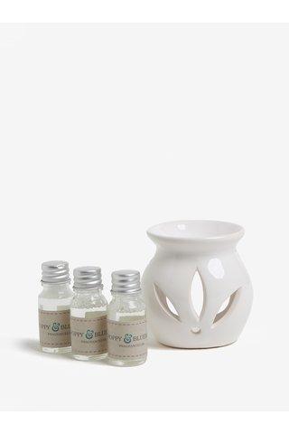 Cutie cadou cu lampa ceramica si uleiuri parfumate de zmeura, mac, coacaze - SIFCON