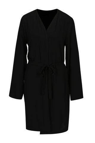 Cardigan negru cu cordon in talie - ONLY Nova
