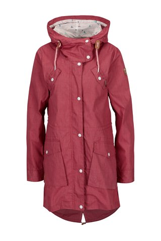 Jacheta parka bordo cu gluga pentru femei - Ragwear Clancy