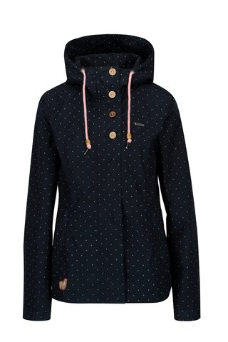 Jacheta bleumarin cu buline pentru femei - Ragwear Lynx Dots