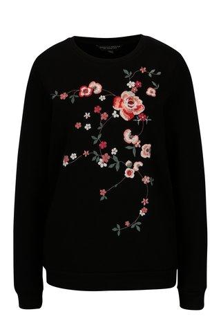 Bluza neagra cu broderie florala Dorothy Perkins
