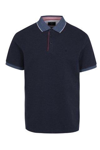 Tricou polo bleumarin - Hackett London Seersucker