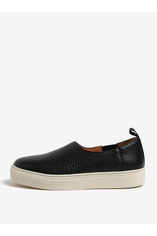 Černé kožené loafers Selected Femme Donna